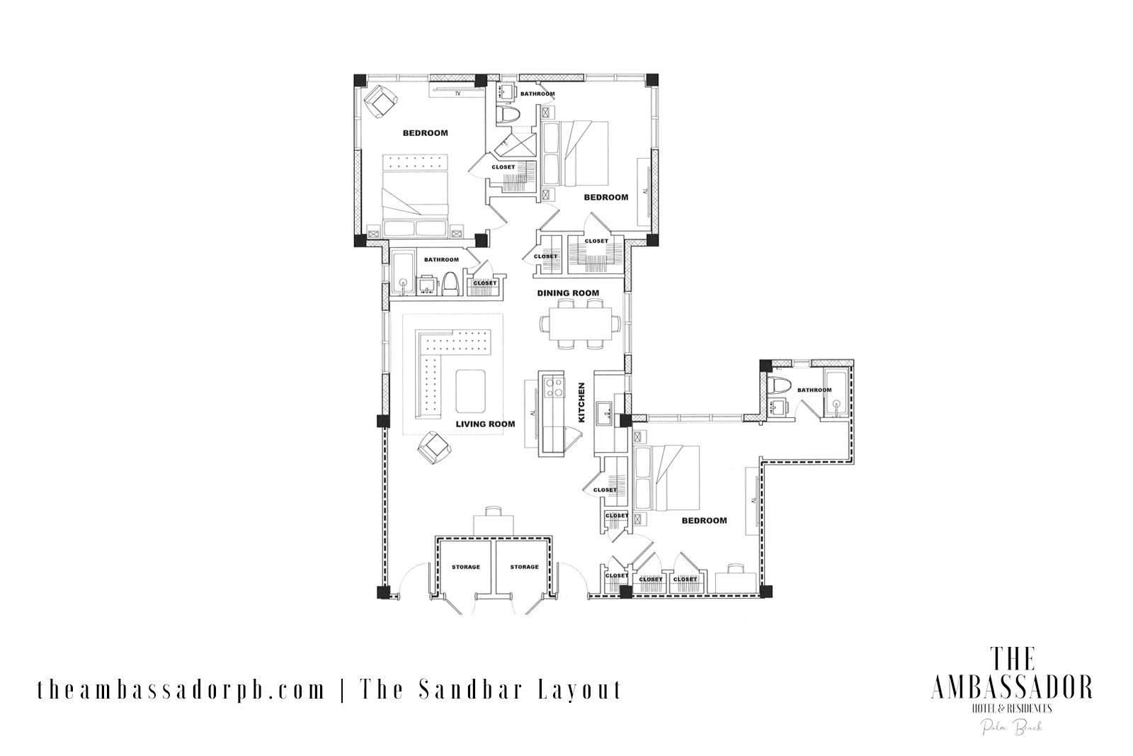 The Sandbar - Floorplan