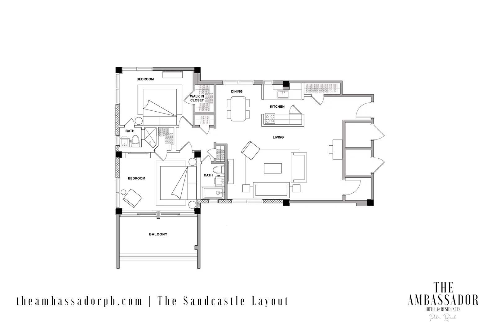 The Sandcastle Floorplan