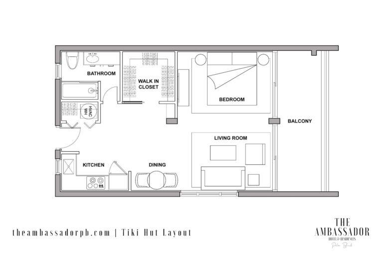 Tiki Hut - Floorplan