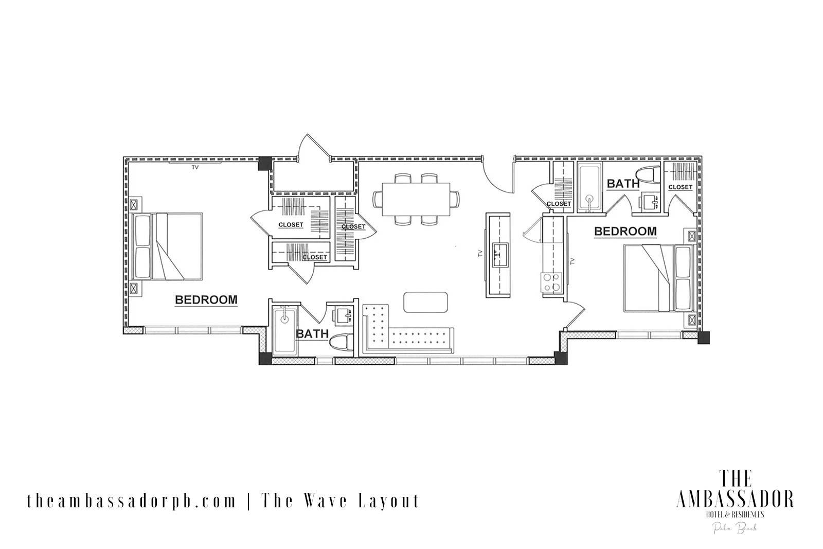 The Wave - 2 Bedroom - Floorplan
