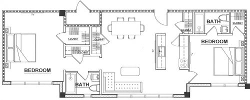 The Wave - 2 Bedroom - Floorplan