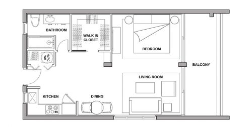 Studio - Tiki Hut - Floorplan